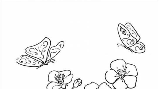 Tranh tô màu hoa đào hoa mai ngày Tết đẹp cho bé