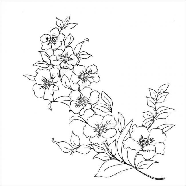 Tranh tô màu hoa đào hoa mai ngày Tết đẹp cho bé 28