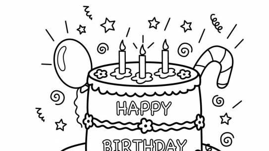 Tranh tô màu bánh sinh nhật cho bé tập tô HOT nhất năm