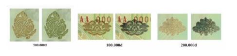 Đại tá Lương Ngọc Anh phân biệt tiền giả Polymer bằng cách trao nghiêng