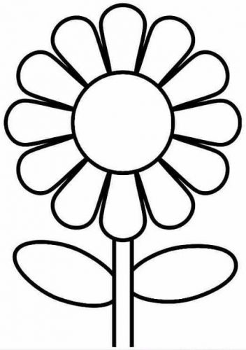 Tải tranh tô màu hình bông hoa đơn giản cho bé tập làm quen 7