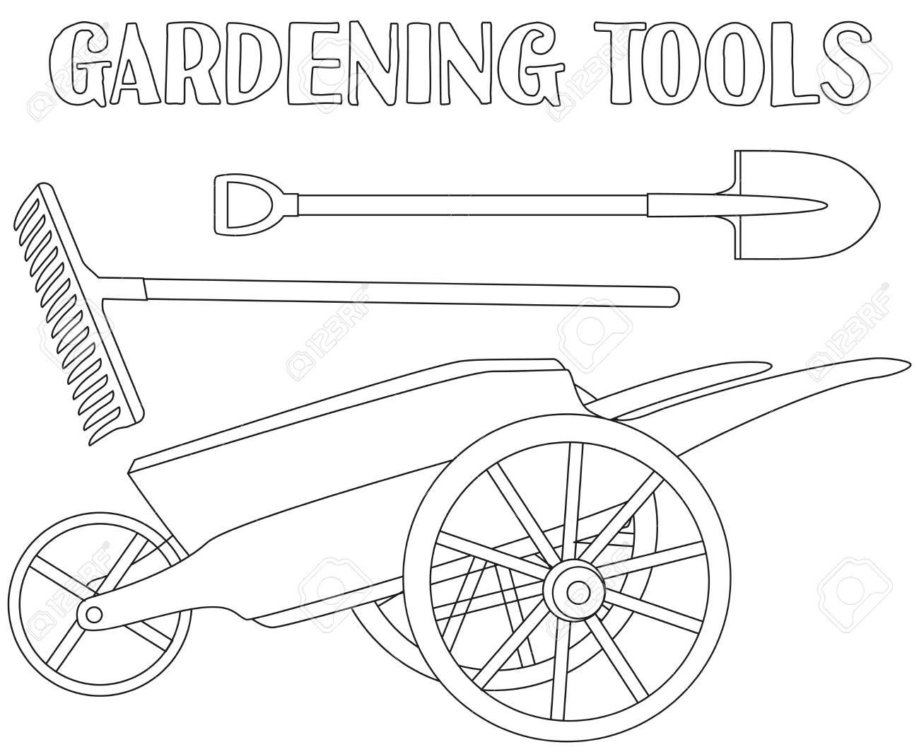 Tổng hợp các bức tranh tô màu dụng cụ nghề nông cho bé tập tô 35