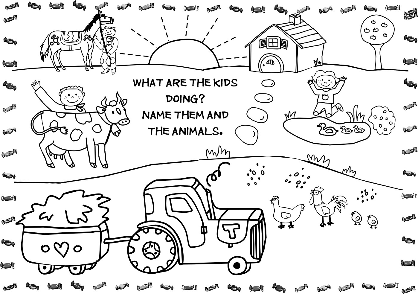 Tổng hợp các bức tranh tô màu dụng cụ nghề nông cho bé tập tô 39