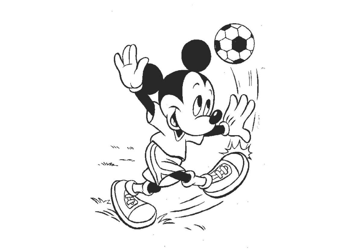 Tuyển tập bộ tranh tô màu chuột Mickey đáng yêu cho bé 44