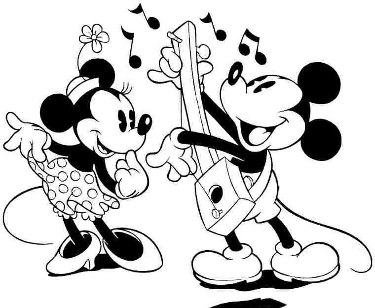 Tuyển tập bộ tranh tô màu chuột Mickey đáng yêu cho bé 48