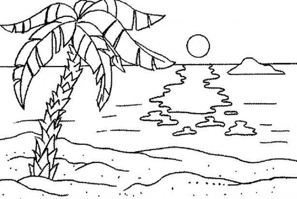 Tuyển tập tranh tô màu phong cảnh đơn giản cho bé tập tô 25