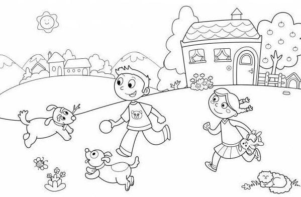 Tuyển tập tranh tô màu phong cảnh đơn giản cho bé tập tô 24