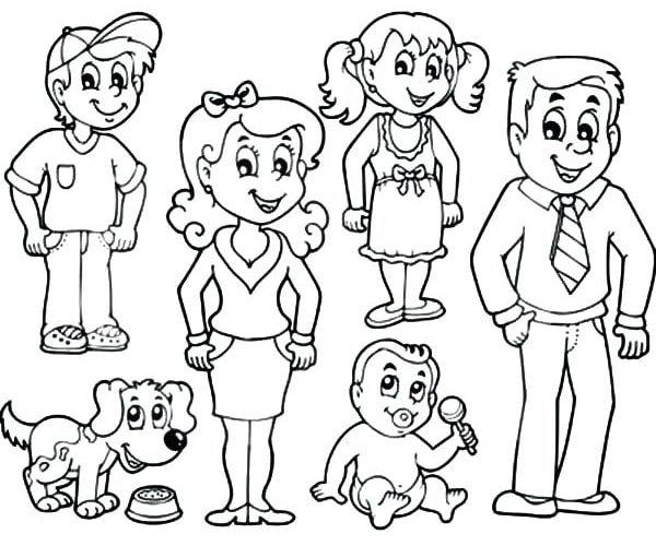 Download tải tranh tô màu bố mẹ gia đình cho bé 9