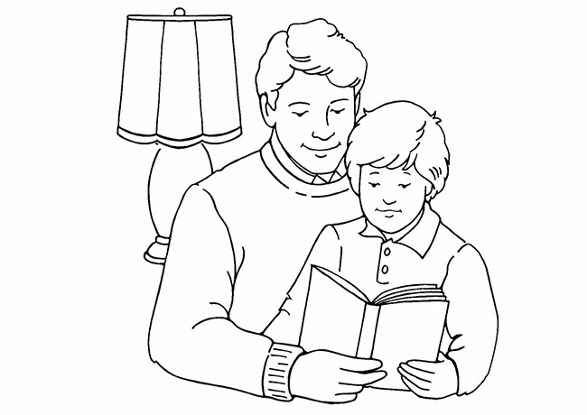 Download tải tranh tô màu bố mẹ gia đình cho bé 10