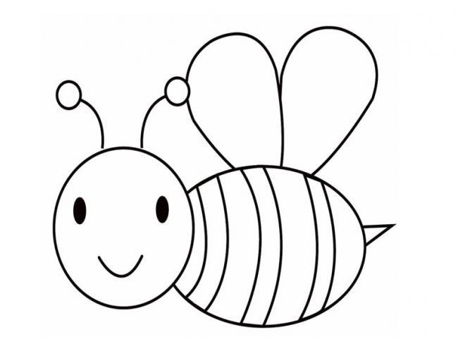 Tranh tô màu con ong chăm chỉ siêu dễ thương cho bé 39