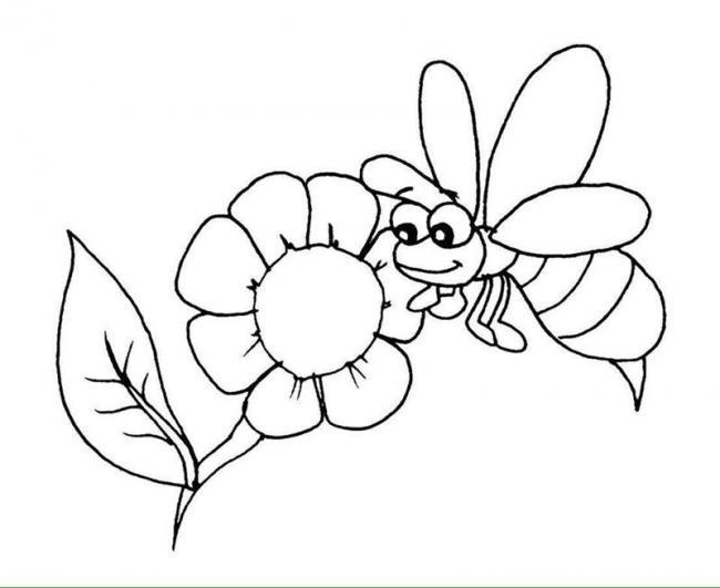 Tranh tô màu con ong chăm chỉ siêu dễ thương cho bé 40