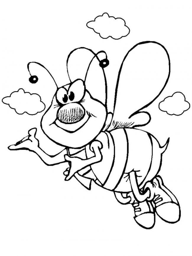Tranh tô màu con ong chăm chỉ siêu dễ thương cho bé 42