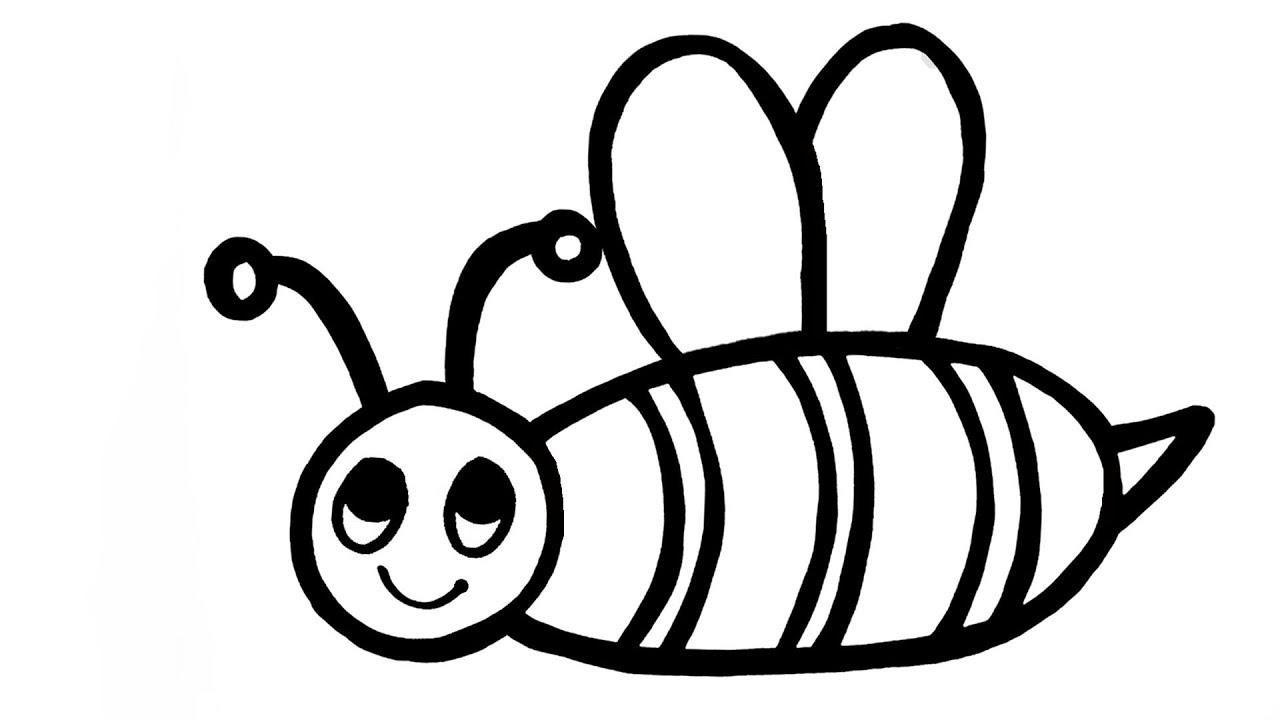 Tranh tô màu con ong chăm chỉ siêu dễ thương cho bé 49