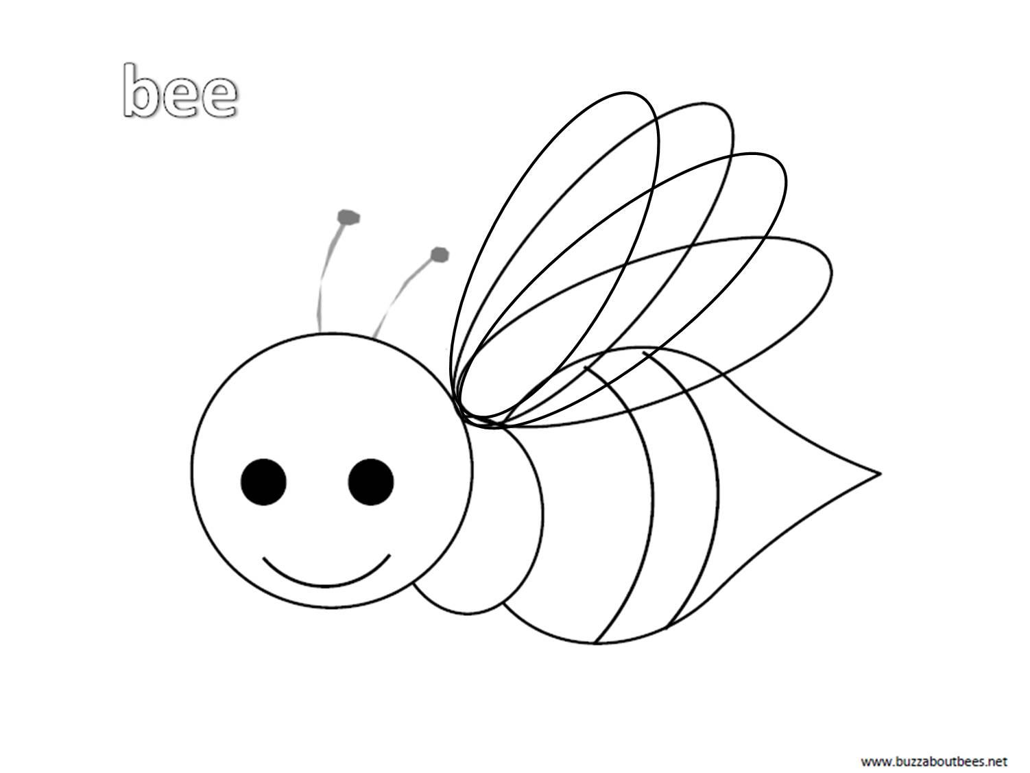 Tranh tô màu con ong chăm chỉ siêu dễ thương cho bé 50