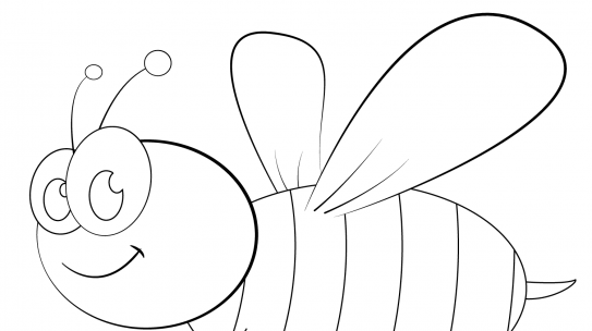Tranh tô màu con ong chăm chỉ siêu dễ thương cho bé