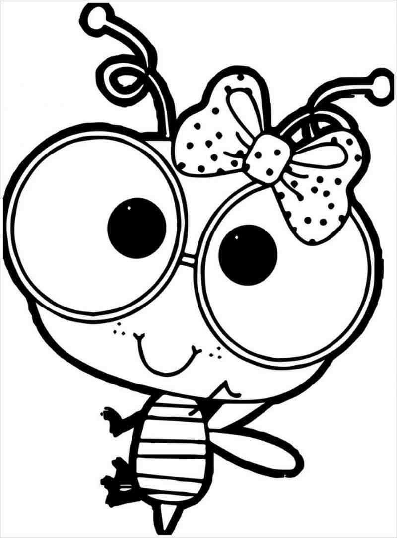 Tranh tô màu con ong chăm chỉ siêu dễ thương cho bé 53