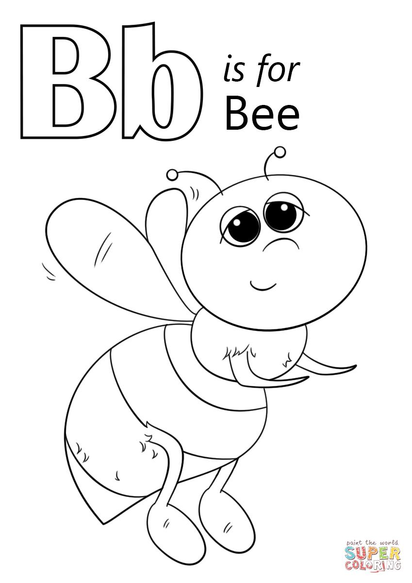 Tranh tô màu con ong chăm chỉ siêu dễ thương cho bé 54