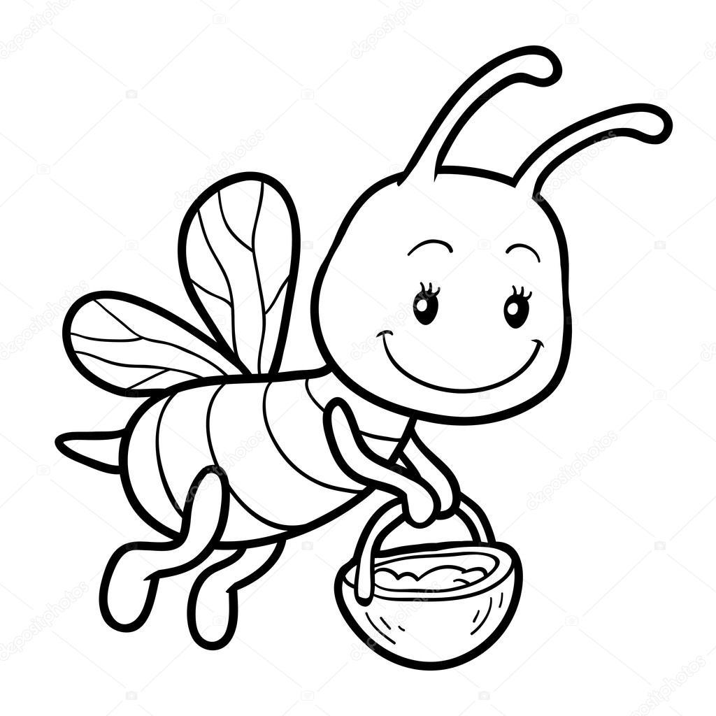 Tranh tô màu con ong chăm chỉ siêu dễ thương cho bé 56