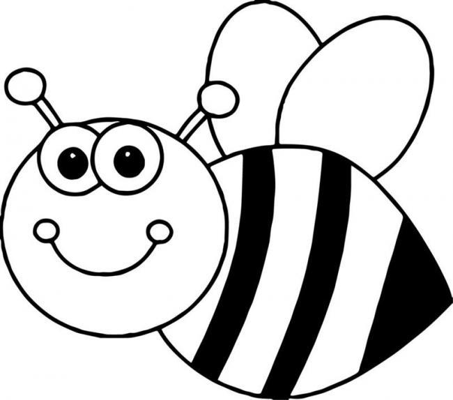 Tranh tô màu con ong chăm chỉ siêu dễ thương cho bé 44