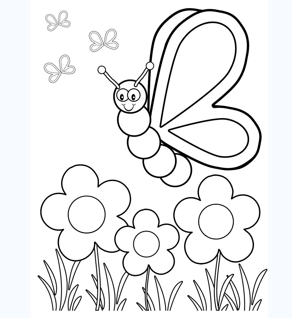 Tranh tô màu con ong chăm chỉ siêu dễ thương cho bé 47