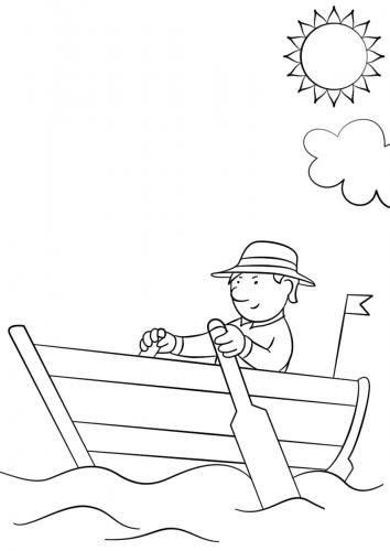 Tranh tô màu cảnh biển dành cho bé yêu thích mùa hè 6