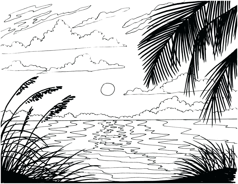 Tranh tô màu cảnh biển dành cho bé yêu thích mùa hè 18