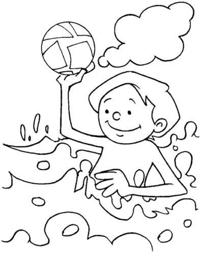Tranh tô màu cảnh biển dành cho bé yêu thích mùa hè 7