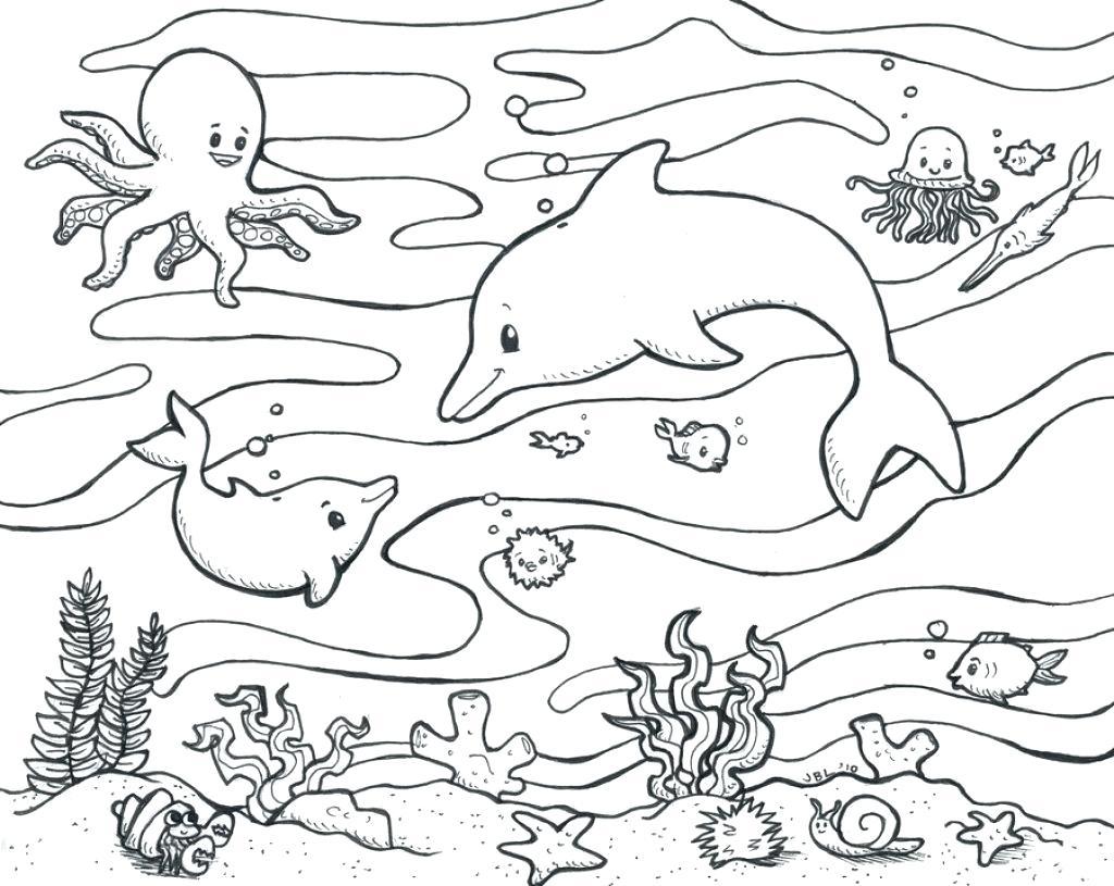 Tranh tô màu cảnh biển dành cho bé yêu thích mùa hè 22