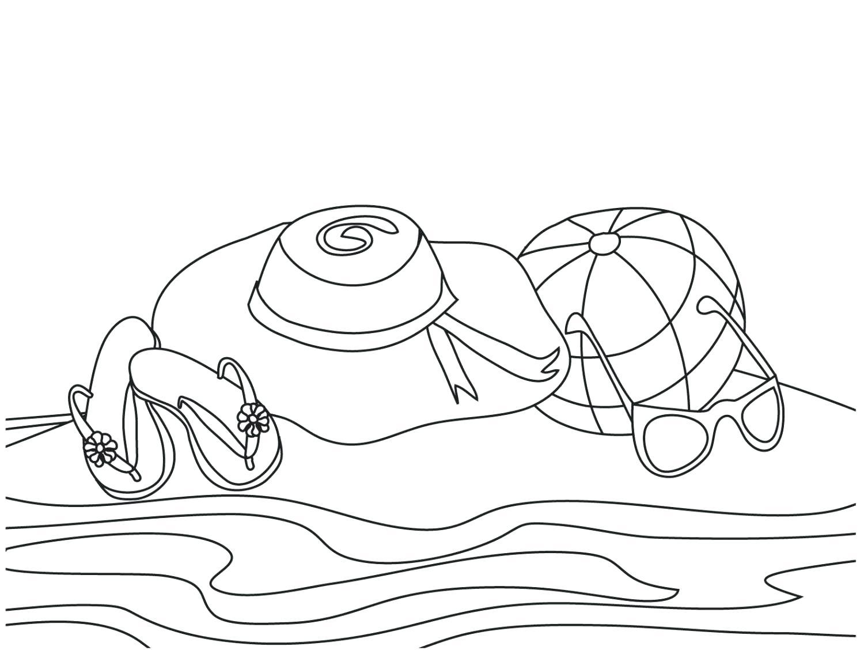 Tranh tô màu cảnh biển dành cho bé yêu thích mùa hè 11