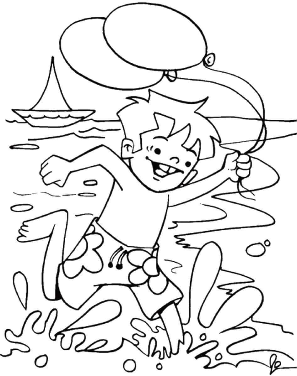 Tranh tô màu cảnh biển dành cho bé yêu thích mùa hè 14