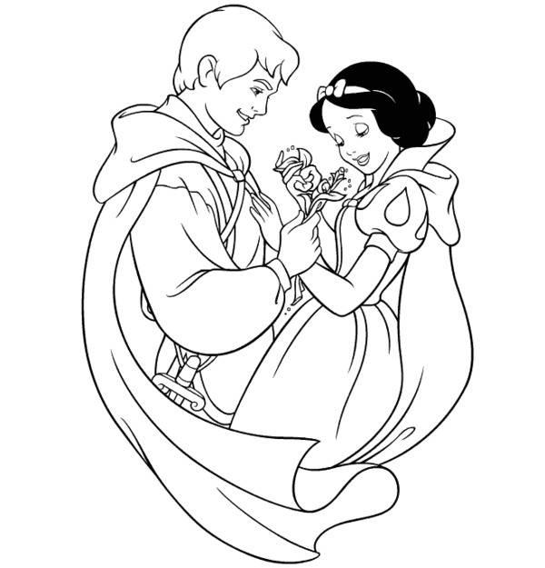Tuyển tập tranh tô màu nàng Bạch Tuyết xinh đẹp trong truyện cổ tích 36