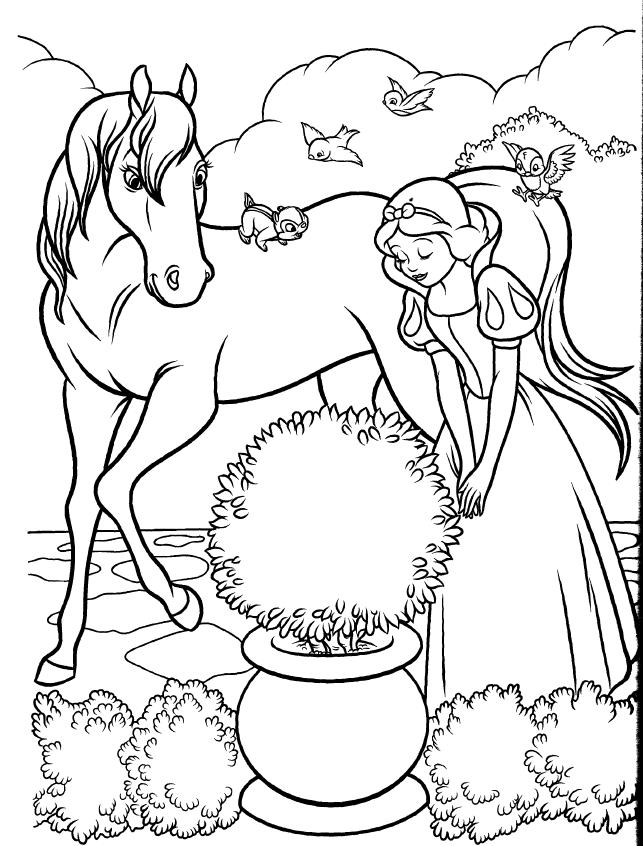 Tuyển tập tranh tô màu nàng Bạch Tuyết xinh đẹp trong truyện cổ tích 38