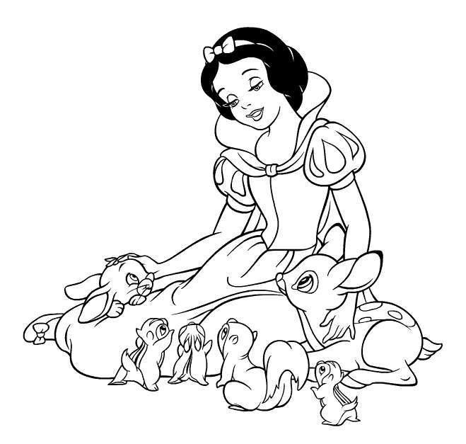 Tuyển tập tranh tô màu nàng Bạch Tuyết xinh đẹp trong truyện cổ tích 35