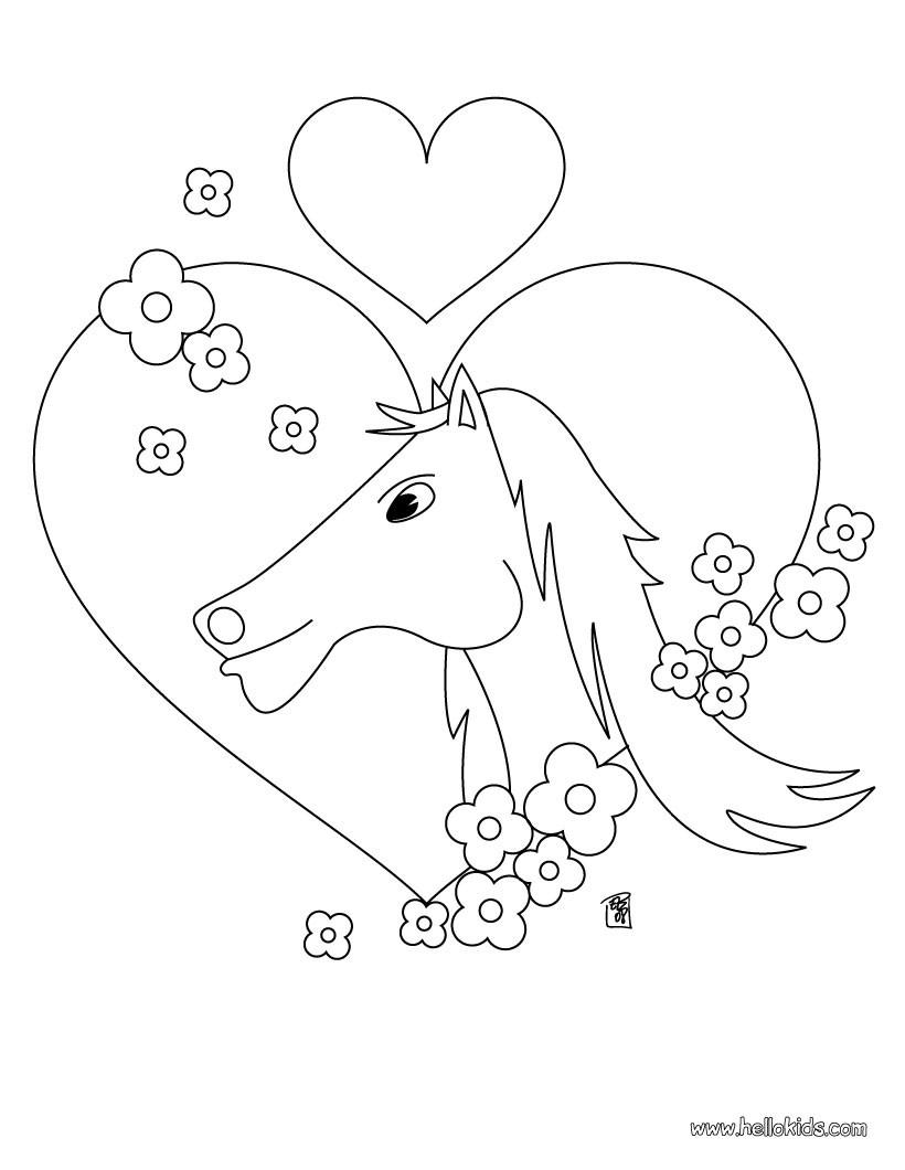 Bộ sưu tập tranh tô màu con ngựa dành tặng bé 46