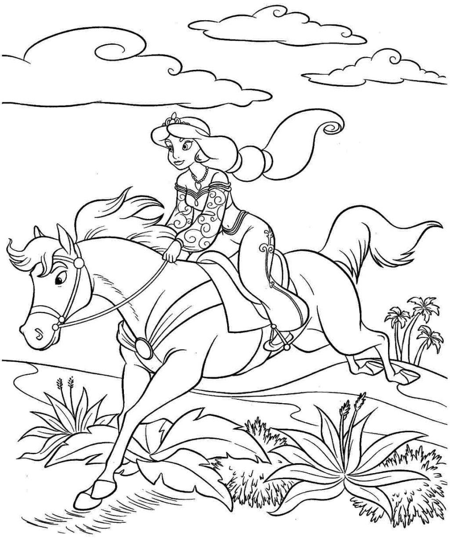 Bộ sưu tập tranh tô màu con ngựa dành tặng bé 47