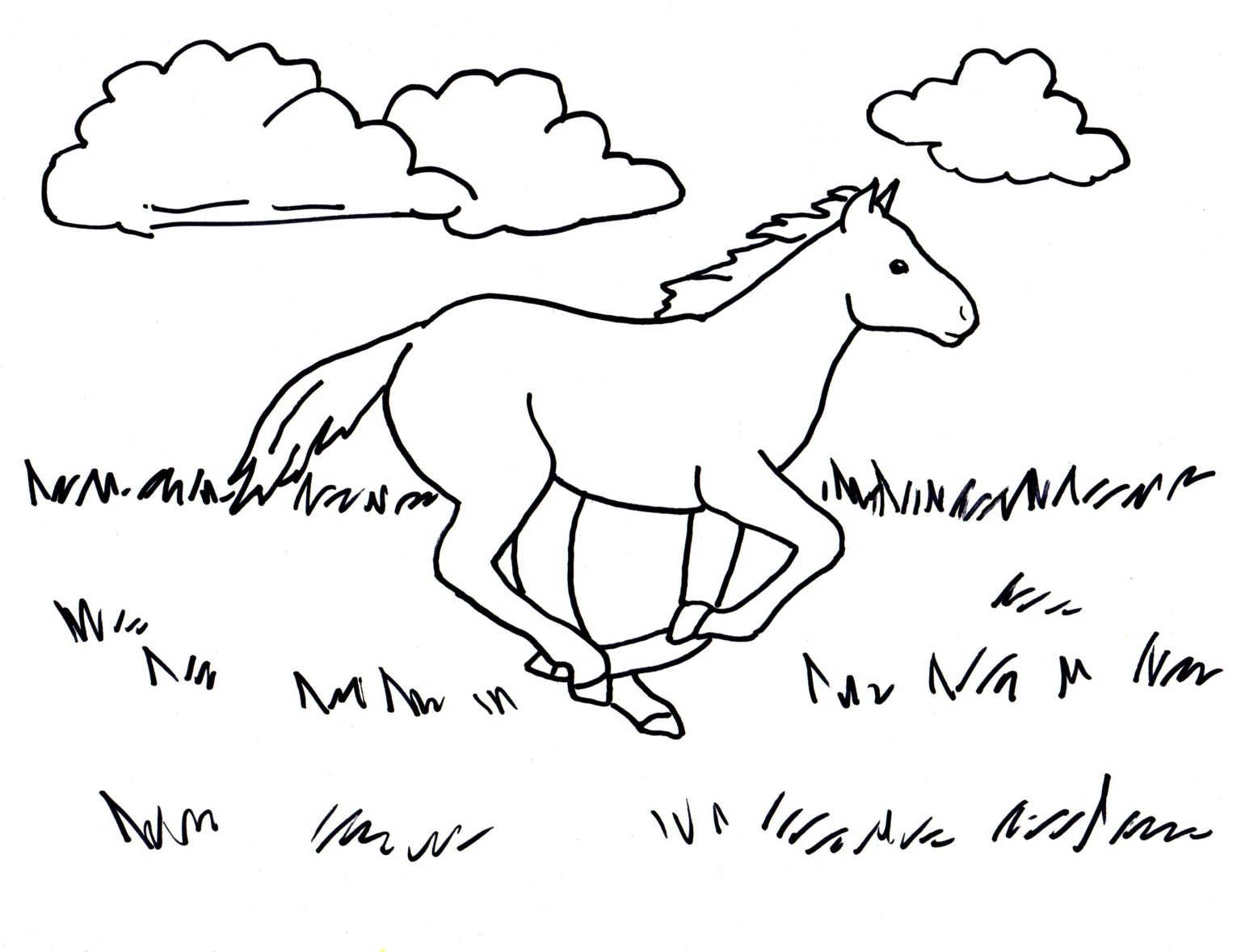 Bộ sưu tập tranh tô màu con ngựa dành tặng bé 48