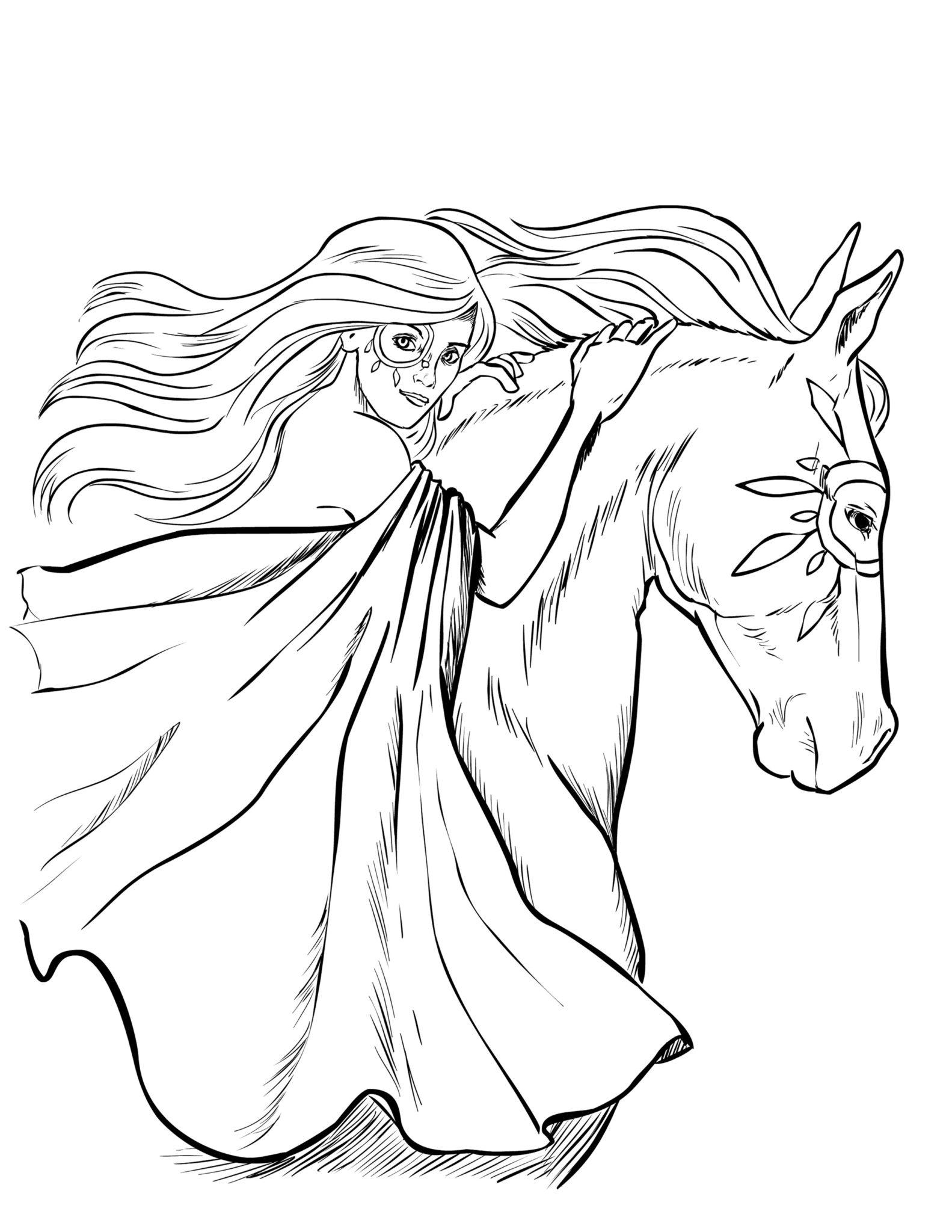 Bộ sưu tập tranh tô màu con ngựa dành tặng bé 49