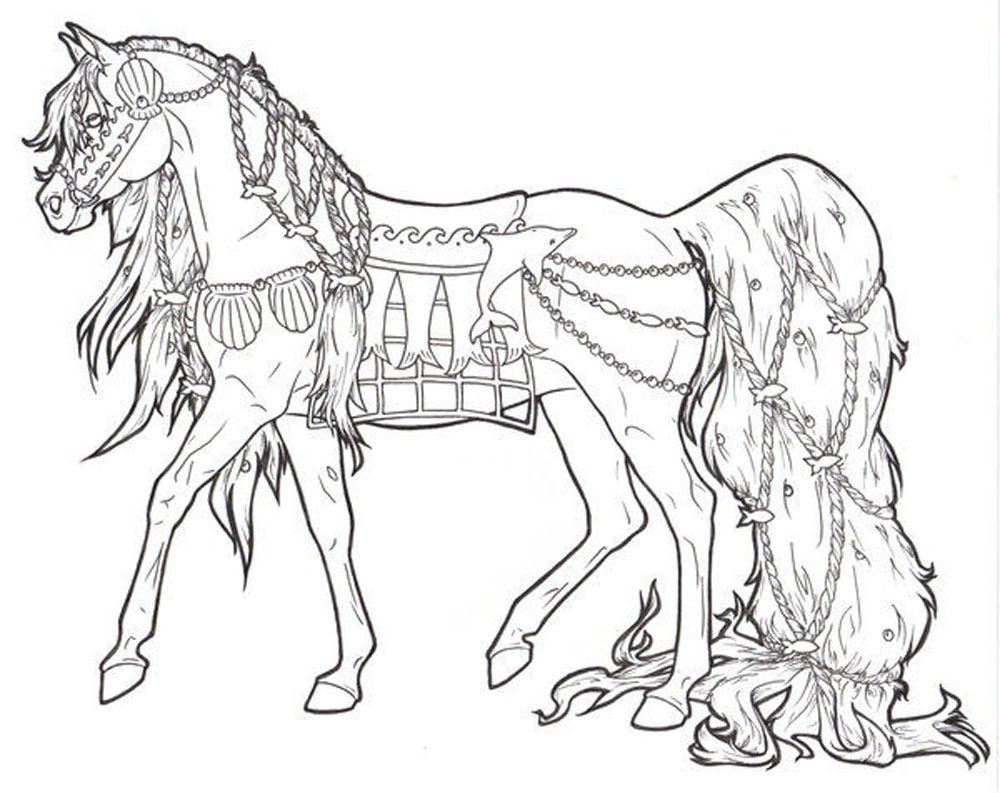 Bộ sưu tập tranh tô màu con ngựa dành tặng bé 52