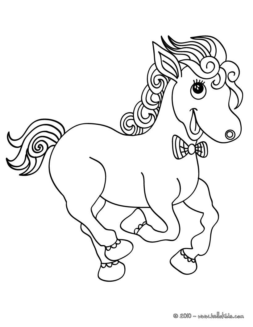 Bộ sưu tập tranh tô màu con ngựa dành tặng bé 38
