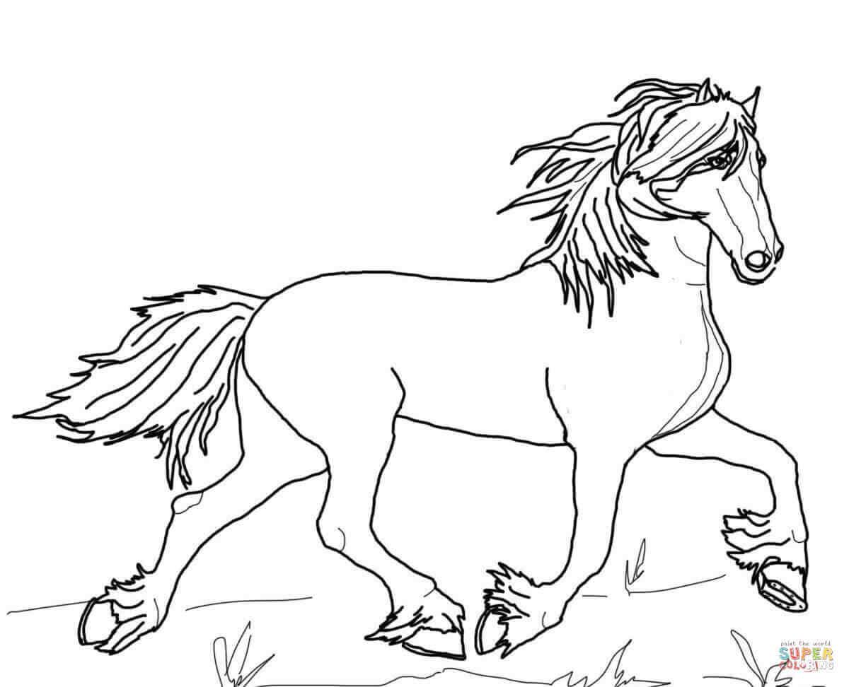 Bộ sưu tập tranh tô màu con ngựa dành tặng bé 39