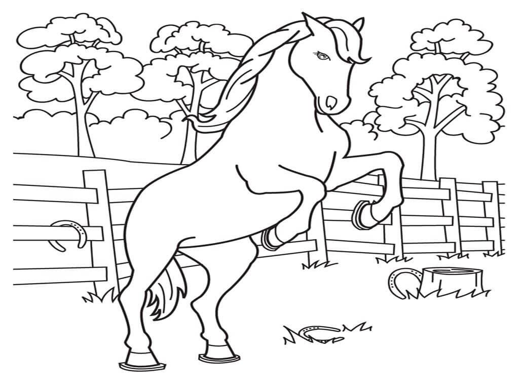 Bộ sưu tập tranh tô màu con ngựa dành tặng bé 42