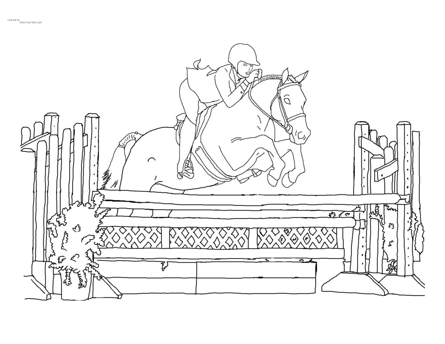 Bộ sưu tập tranh tô màu con ngựa dành tặng bé 54