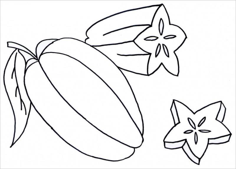 Tranh tô màu rau củ quả giúp bé nhận biết dễ dàng! 44