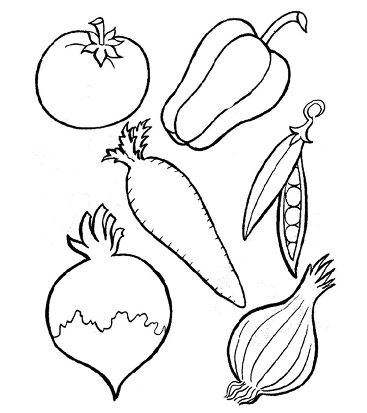 Tranh tô màu rau củ quả giúp bé nhận biết dễ dàng! 32