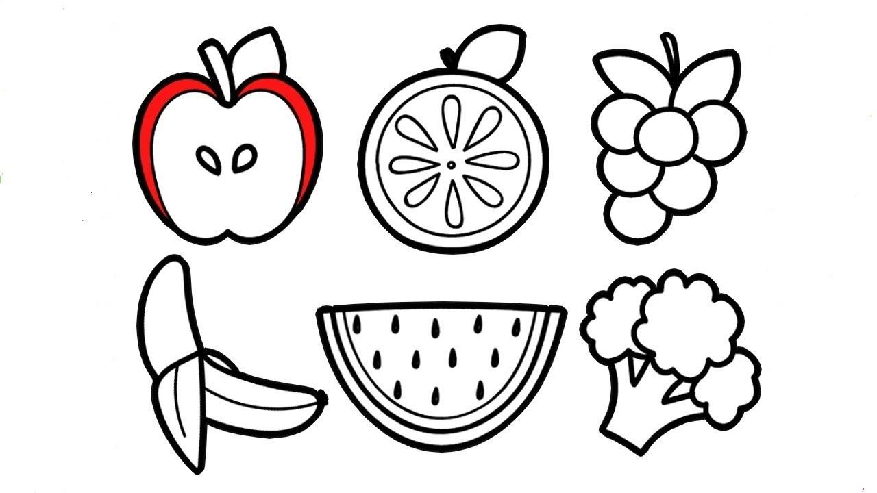 Tranh tô màu rau củ quả giúp bé nhận biết dễ dàng! 38
