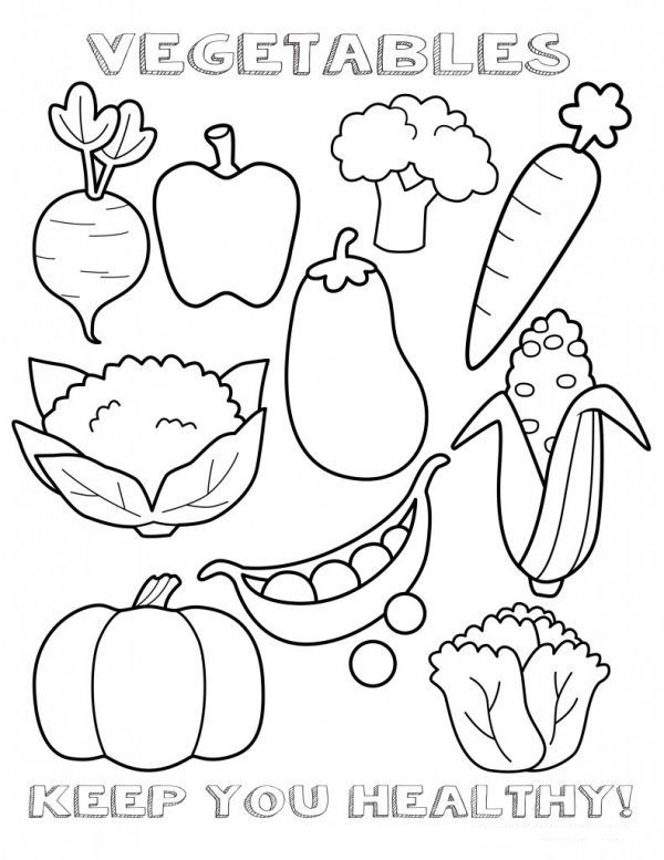 Tranh tô màu rau củ quả giúp bé nhận biết dễ dàng! 31