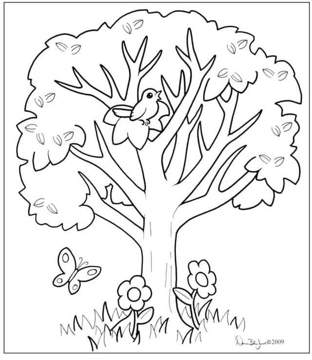 Tổng hợp tranh tô màu cây cối cho bé yêu thiên nhiên 44
