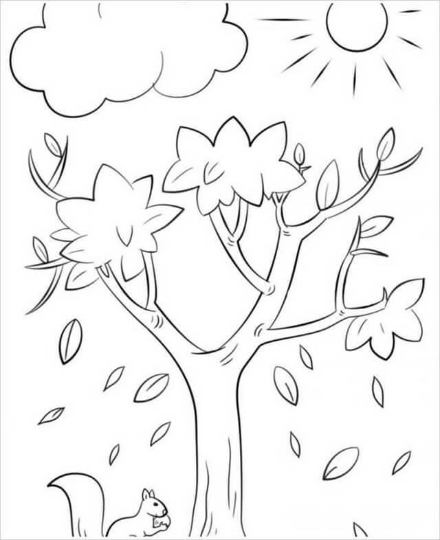 Tổng hợp tranh tô màu cây cối cho bé yêu thiên nhiên 41