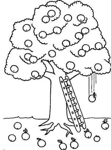 Tổng hợp tranh tô màu cây cối cho bé yêu thiên nhiên 34