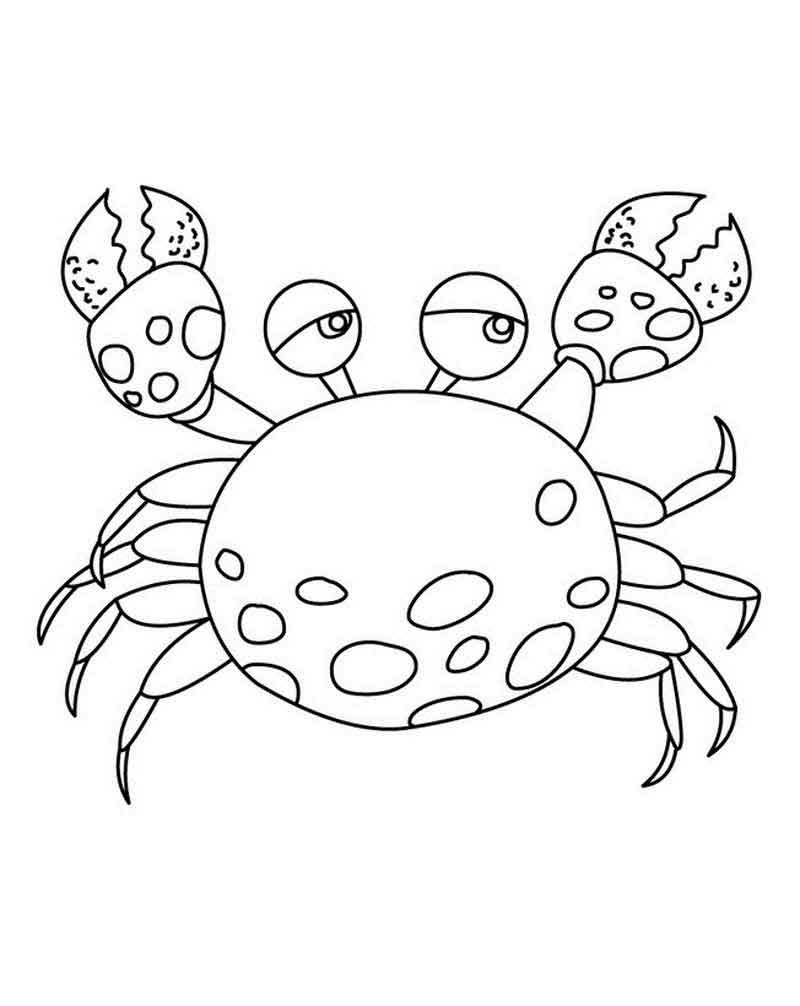 Bộ sưu tập tranh tô màu con cua cho bé khám phá thế giới đại dương 30